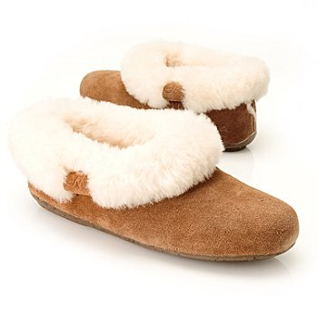711-948 - EMU® Sheepskin & Suede Leather ''Nundah'' Slip-on Slippers