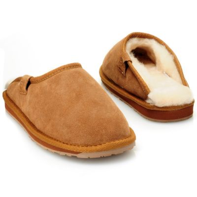"711-949 - EMU® Men's Sheepskin & Suede Leather ""Buckingham"" Slippers"