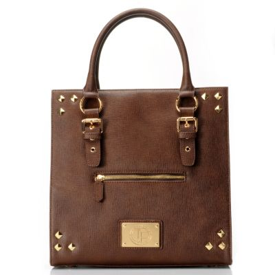 "711-973 - Jack French London Leather ""The Haymarket"" Double Handle Tote Bag"