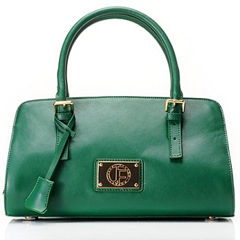 711-974 - Jack French London Leather ''The Oxford'' Lock & Key Satchel
