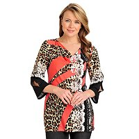 aDRESSing WOMAN Drape Front Cold Shoulder Tunic