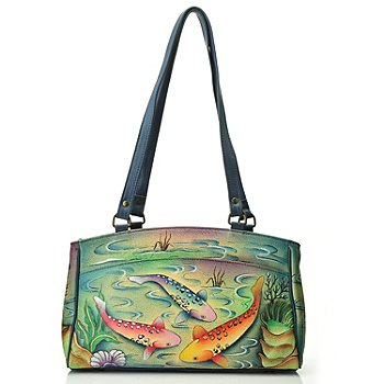711-988 - Anuschka Hand Painted Leather Double Entry Satchel