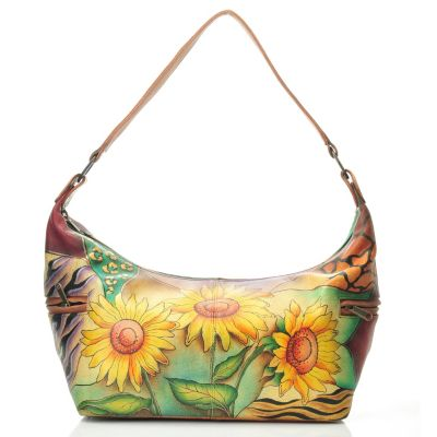 711-989 - Anuschka Hand Painted Leather East-West Shoulder Bag