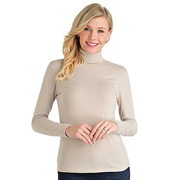712-003 - OSO Casuals Stretch Knit Long Sleeved Turtleneck Top