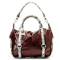 "BUXTON ""TORINO"" Leather Satchel with Shoulder Strap"
