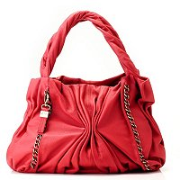 "BUXTON ""VARESE"" Leather Ruched Tote"