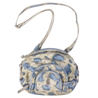 712-039 - Christian Audigier Snake Print Multi Pocket Crossbody Handbag