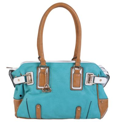 712-043 - Hailey Jeans Co. Women's Double Handle Color Block Satchel