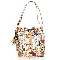"Piero Guidi Leather Magic Circus ""Demetra"" Drawstring Bucket Bag"