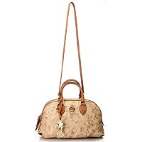"Piero Guidi Leather Magic Circus Deserto Dipinto ""Eva"" Satchel"
