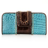 Madi Claire Croco Embossed Leather Wallet