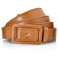 Kate & Mallory Leather Slim Belt