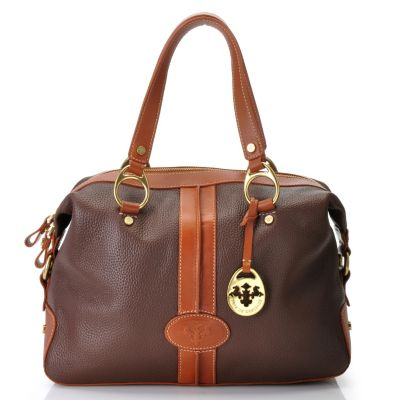 712-136 - PRIX DE DRESSAGE Leather Double Handle Satchel
