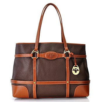 712-137 - PRIX DE DRESSAGE Leather Double Handle Large Tote Bag
