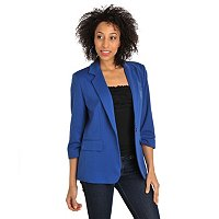Geneology Stretch Ponte 3/4 Sleeve Knit Blazer