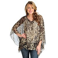 Kate & Mallory Caftan Tunic with Drawstring Neck