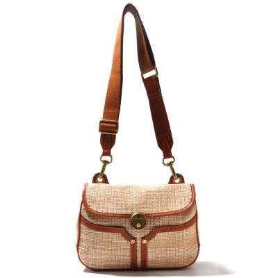 "712-447 - PRIX DE DRESSAGE Raffia ""Beauty"" Cross Body Bag"