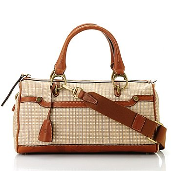 712-448 - PRIX DE DRESSAGE Raffia Straw ''Rhythm'' Satchel w/ Shoulder Strap