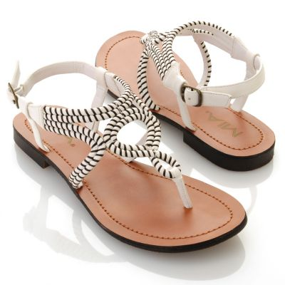 "712-745 - MIA ""Emeline"" Twist Detailed Thong Sandals"