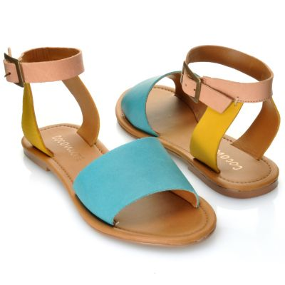 "712-937 - Matisse® Leather ""All About"" Ankle Strap Sandals"