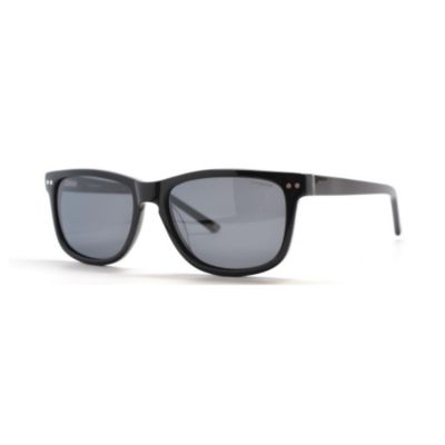 713-651 - Polaroid Unisex Black Polarized Designer Sunglasses