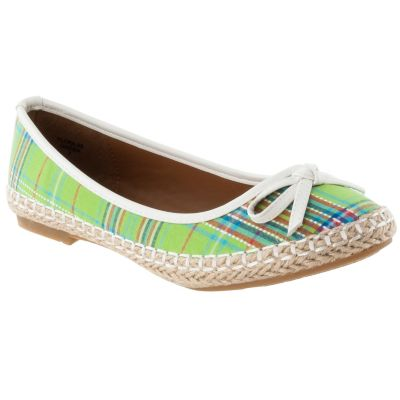 713-981 - Via Pinky by Riverberry Women's 'Flora' Bow-detail Plaid Flats