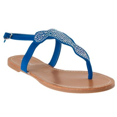 713-997 - Bamboo by Riverberry Women's 'Morris' Sparkling Detail Microsuede Sandals