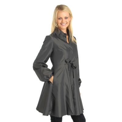 Henry New York Front Waist Tie Flared Long Jacket. NAILHEAD, 3X $ 42.67