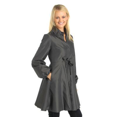 Henry New York Front Waist Tie Flared Long Jacket. NAILHEAD, 3X $ 42.67
