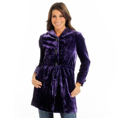 Suzanne Somers Yummy Velvet Coat. PURPLE $ 182.50