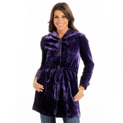 Suzanne Somers Yummy Velvet Coat. PURPLE $ 182.50