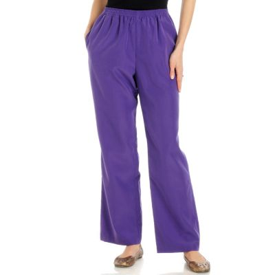 Encore by Daniel Kiviat Primo Peach Skin Pull-on Pants. PURPLE, 1X $ 38.50