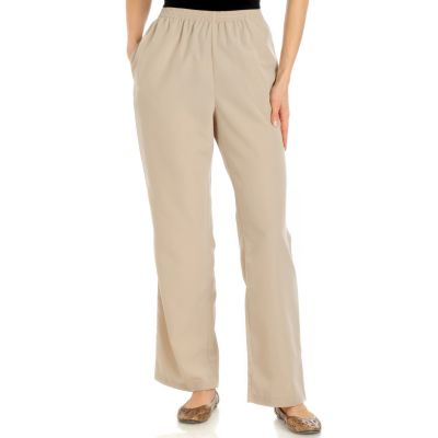 Encore by Daniel Kiviat Primo Peach Skin Pull-on Pants. KHAKI, XS $ 38.50