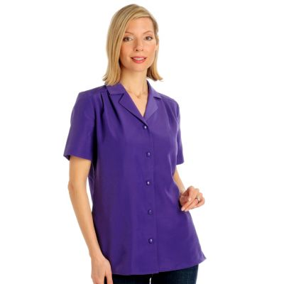 Encore by Daniel Kiviat Pleated Yoke Primo Peach Skin Camp Shirt. PURPLE, BLACK, KHAKI $ 39.75