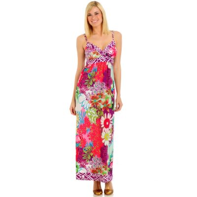 aDRESSing WOMAN Printed Maxi Dress. PINK MULTI, XL $ 39.67