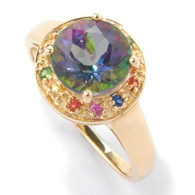 14K Gold Mystic Topaz, London Blue Topaz or Peridot & Multi-Gem Ring $ 198.95