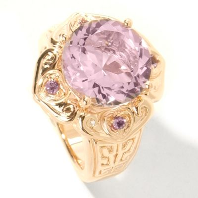 14K Rose Gold Pink Amethyst Electroform Ring $ 138.49