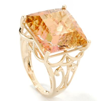 14K Gold Aurora or Sunset Topaz Choice Ring $ 284.00