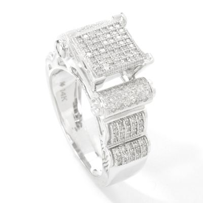 14K White Gold Elevated Diamond Ring $ 702.00