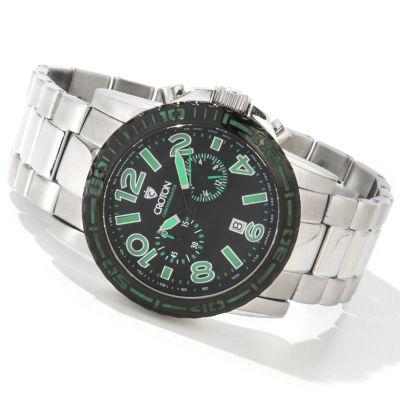 Croton Men's C-Monster Quartz Chronograph Stainless Steel Bracelet Watch GREEN