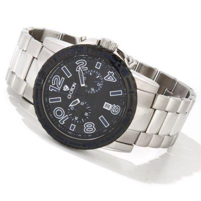 Croton Men's C-Monster Quartz Chronograph Stainless Steel Bracelet Watch GREY