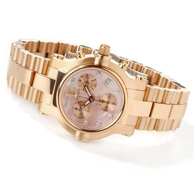 Renato Women? s Beauty Chronograph Rose-tone Stainless Steel Bracelet Watch $ 308.00