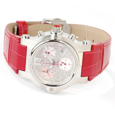 Renato Women's Beauty Diamond Pave Dial Alligator Strap Watch $ 489.95