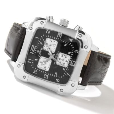 Croton Men's Chronograph Stainless Steel Leather Strap Watch $ 55.55