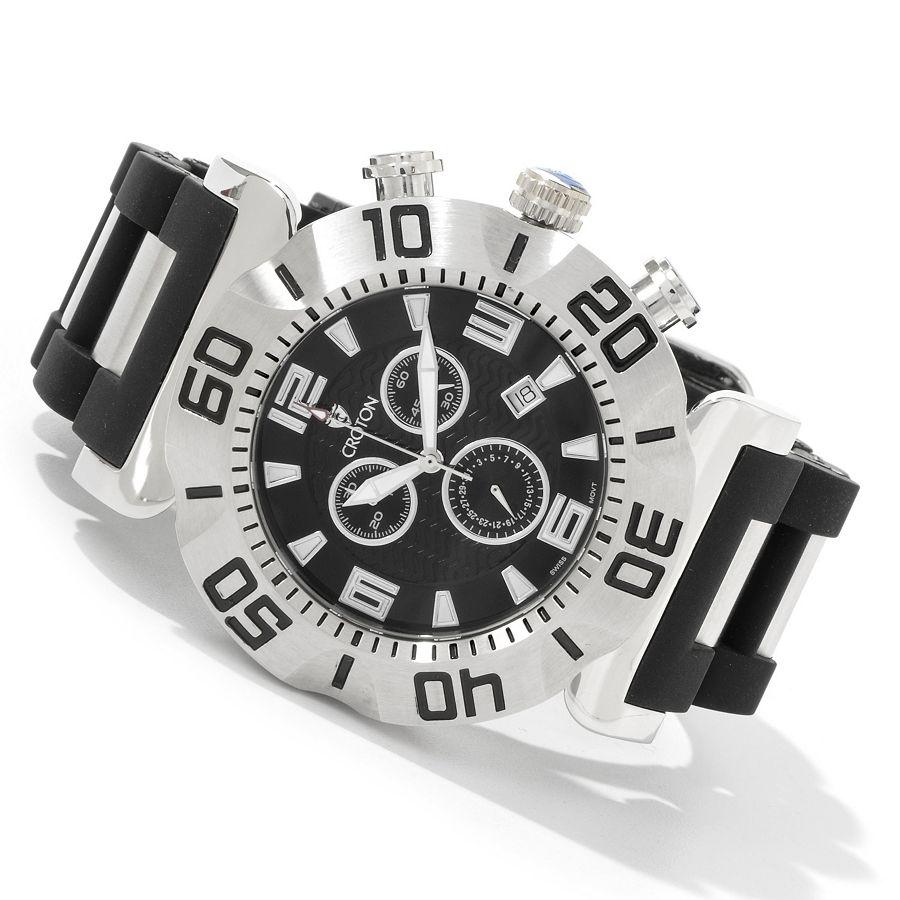 Croton swiss quartz vortex w rubber strap watch freeks for Vortix watches