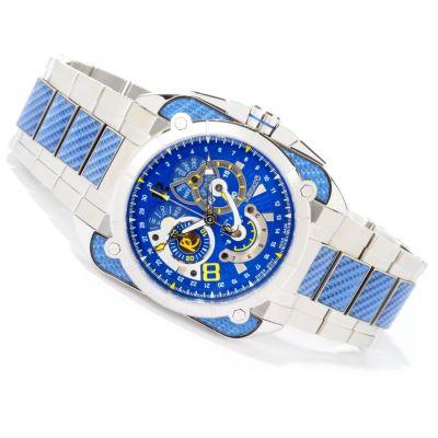 Renato Men's Quadro Collezioni Swiss Quartz Blue Carbon Fiber Bracelet Watch $ 536.48