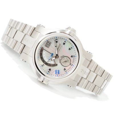 Renato Men's T-Rex Day & Date Swiss Quartz Stainless Steel Bracelet Watch $ 399.34