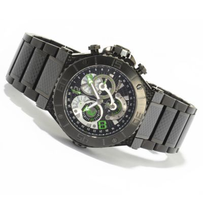 Renato Men's Wilde-Beast Gen II Black Swiss Quartz Chronograph Bracelet Watch $ 610.34