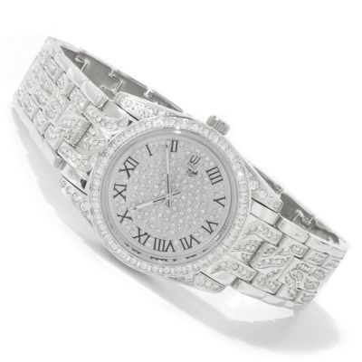 Croton Men's or Women's Balliamo Quartz Czech Crystal Brass Bracelet Watch $ 153.75
