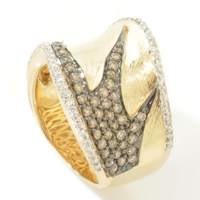 14K Gold White & Chocolate Diamond Ring $ 1051.88